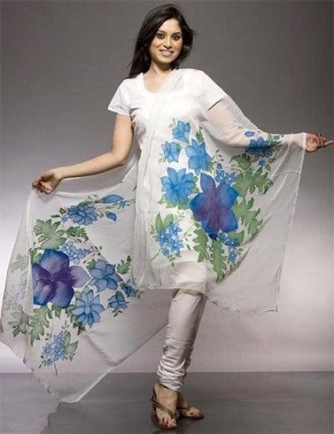 Floral printed dupatta