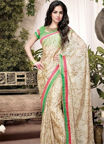 Floral saree for party