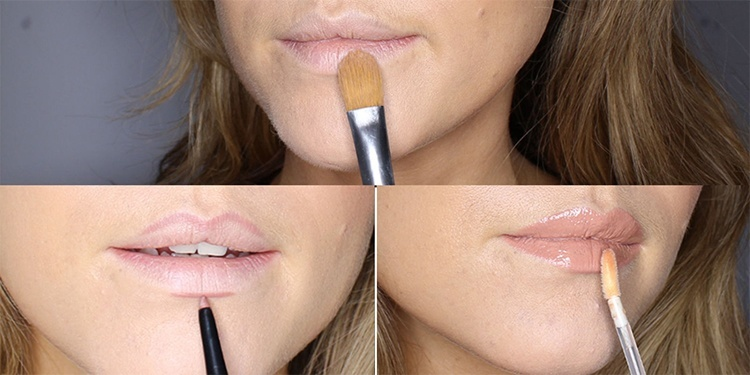 Get pouty lips with lip liner