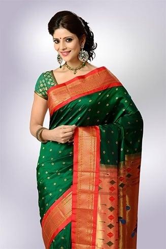 Green paithani sarees