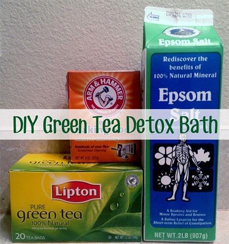 Green tea detox bath