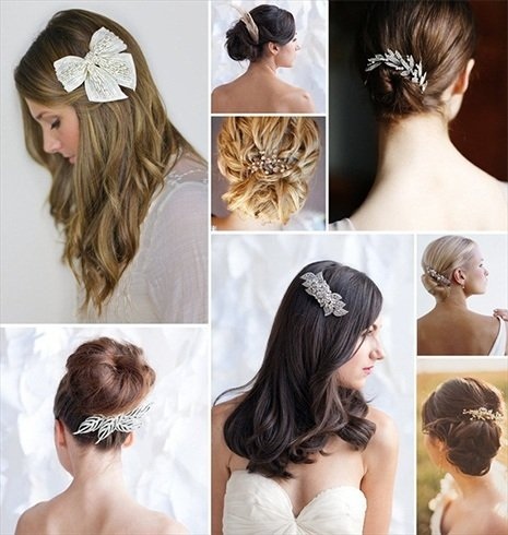 Hair accessories for bride