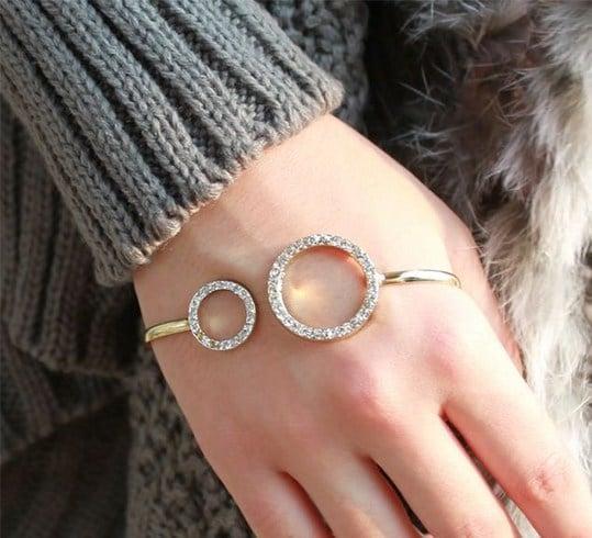 Hand palm cuff bracelet