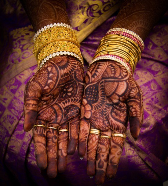 palm mehndi karva chauth for new bride