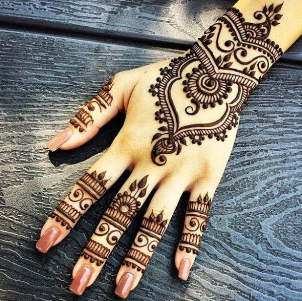 back hand mehndi ideas for karva chauth
