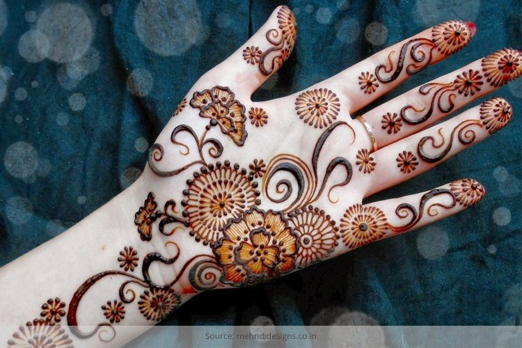 Leg Mehndi Designs Easy Only : Karva chauth mehndi design unleash your creativity