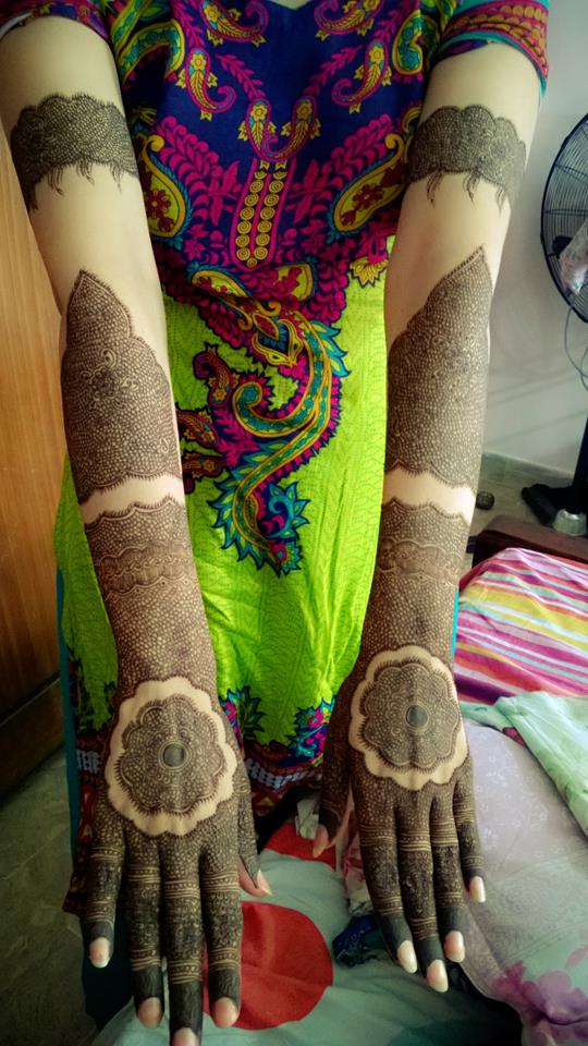 karwa mehndi design full hands