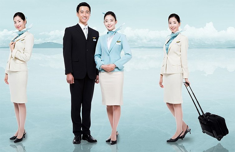 Korea air uniform
