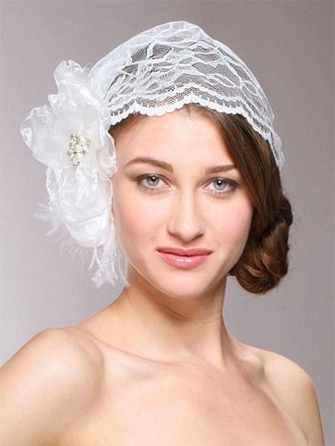 Lace birdcage veils