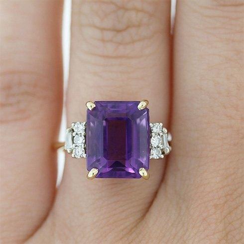 Luxurious gemstone engagement rings