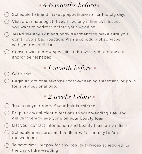 Marriage beauty checklist