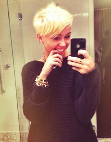 Miley Cyrus pixie hairstyle