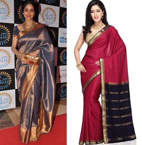 Mysore silk sarees patterns