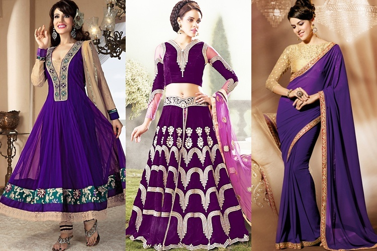 Navratri Day 9 Navami Color Purple
