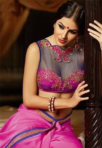 Net Blouse for Silk Saree
