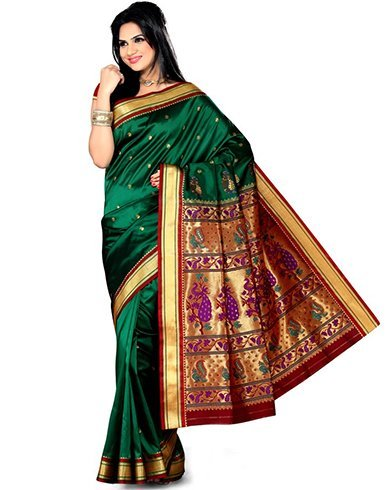 Munia brocade paithani saree
