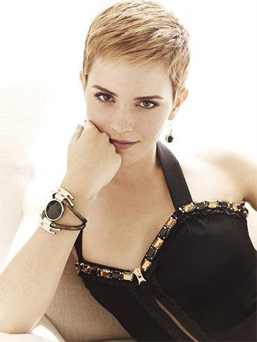 Pixie hairdo of Emma Watson