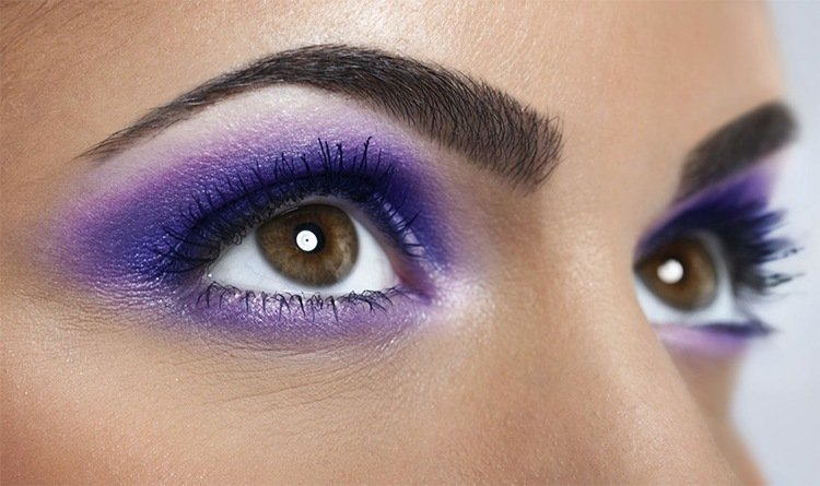 Purple makeup for brown eyes