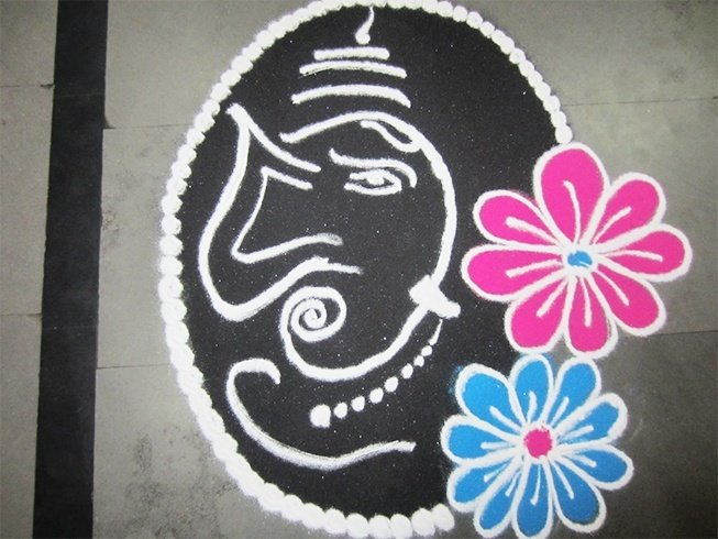 Ragoli design on Ganesh