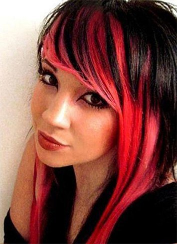 Red and black hairstyles the latest color trend that were in red and black hair urmus Images