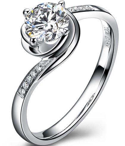 Silver daimond ring