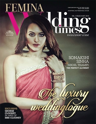 Sonakshi on Femina wedding times cover