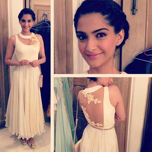 Sonam backless dress