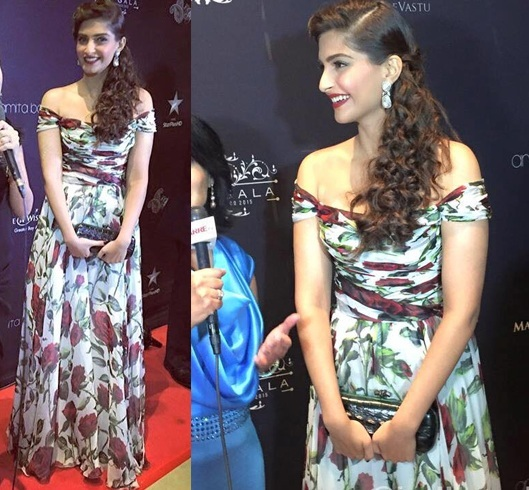 Sonam Kapoor in Dolce and Gabbana gown