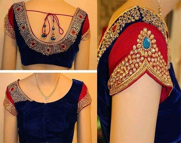 849d6b84cf3ac6 30 Blouse Designs For Silk Sarees