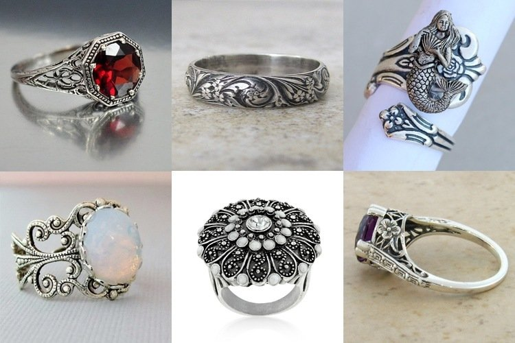 Antique silver ring designs