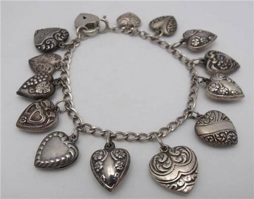 vintage sterling silver charm bracelets we are currently