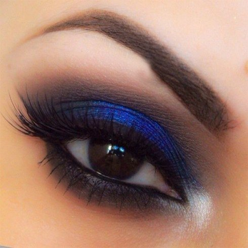 2019 year for women- Makeup eye blue for dark brown eyes