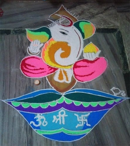 Best Ganesh Rangoli Designs