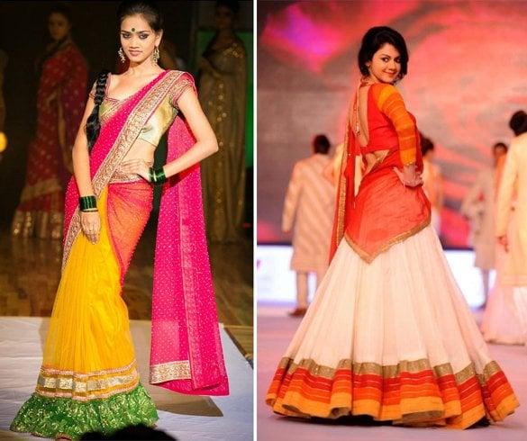 Half Sari Style