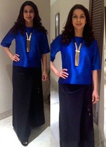 Juhi Chawla gorgeous outfit by Payal Khandwala