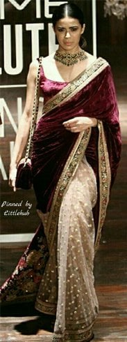 Plain Saree Design Ideas
