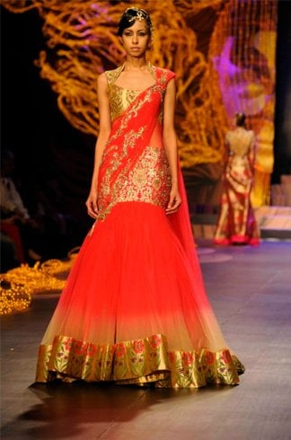 Saree wedding gown