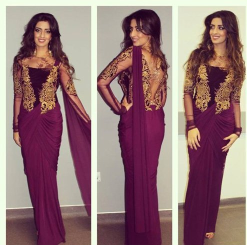 Saree gown style