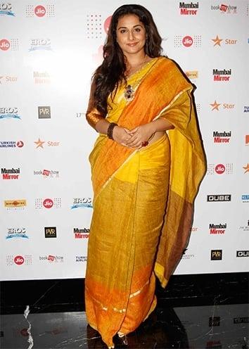 Vidya Balan at MAMI 2015 saree by Anavila