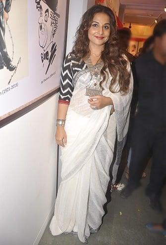 Vidya Balan cotton saree