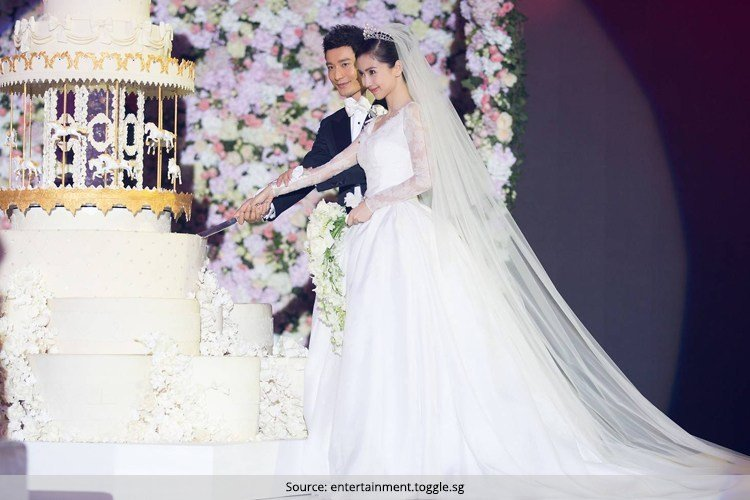 Angelababy Wedding Dress