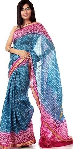 Bandhani saree designs