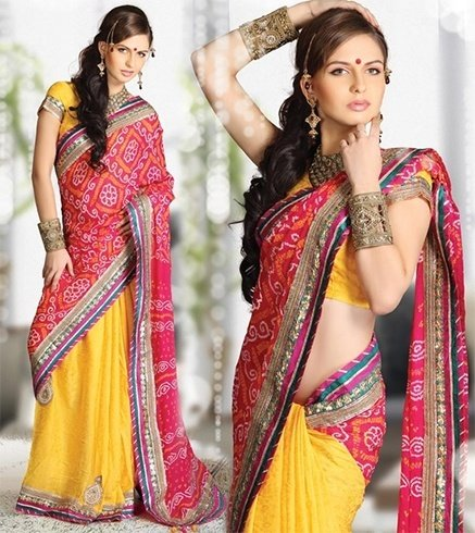 Bandhani sarees patterns