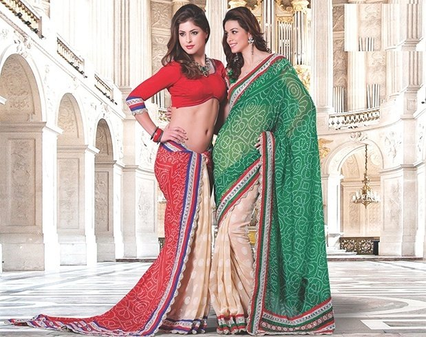 Bandhej saree patterns