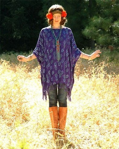 Batik dyed tunic top in silk