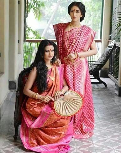 Bengali tussar silk