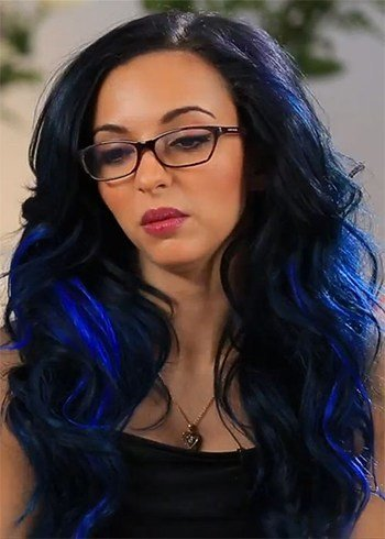 Black and Blue Hair Color