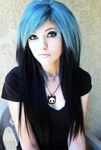 Black and Blue Hair Dye