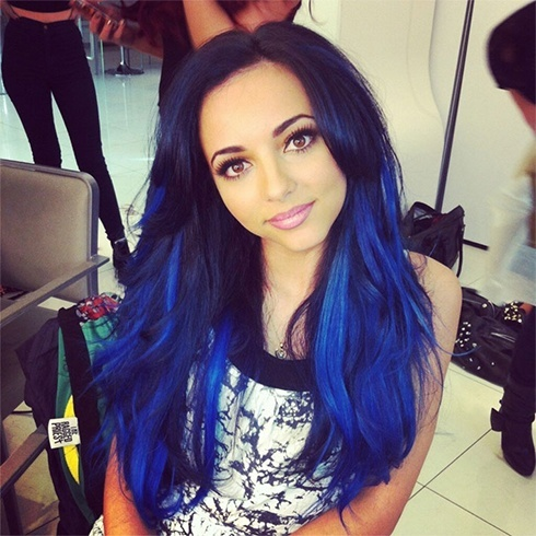 Black and Blue Hair for Women