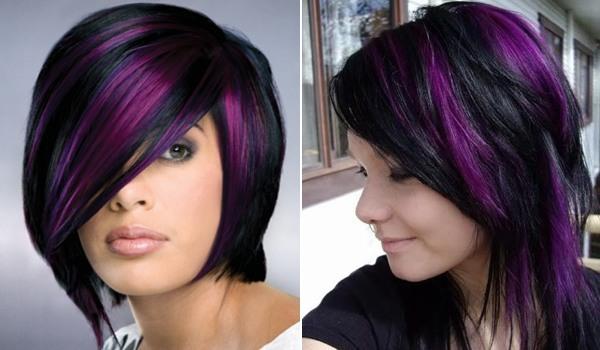 Astonishing Trend Alert Black And Purple Hair Would You Dare Short Hairstyles Gunalazisus